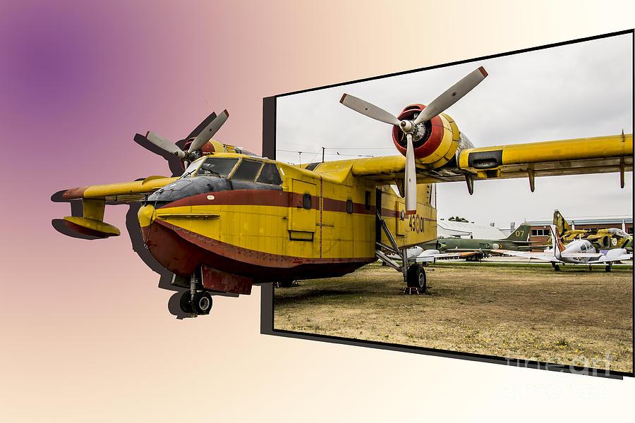 Canadair Photograph - Canadair 3d by Stefano Piccini