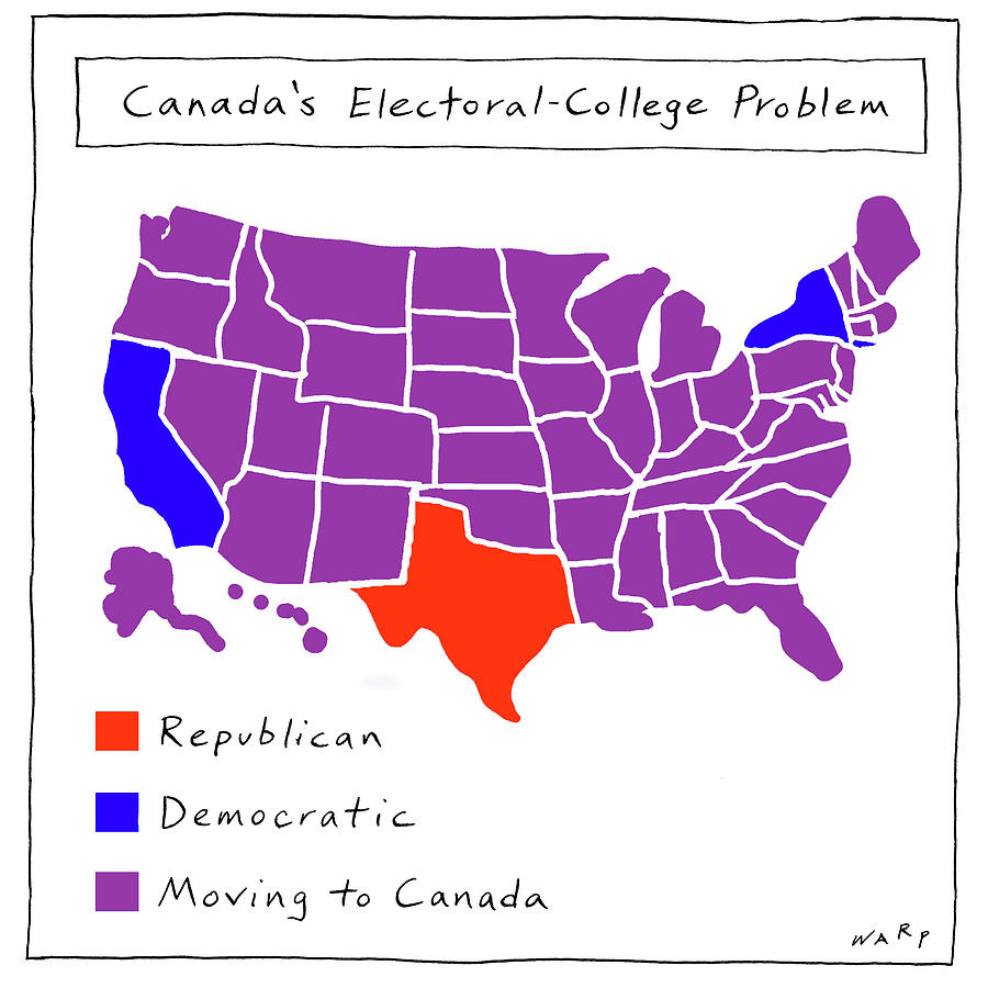 Canadas Electoral-college Problem Drawing by Kim Warp
