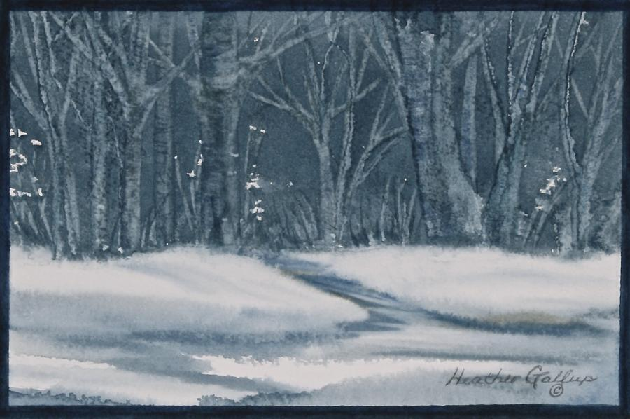 Monochromatic Painting - Canadian Backyard by Heather Gallup