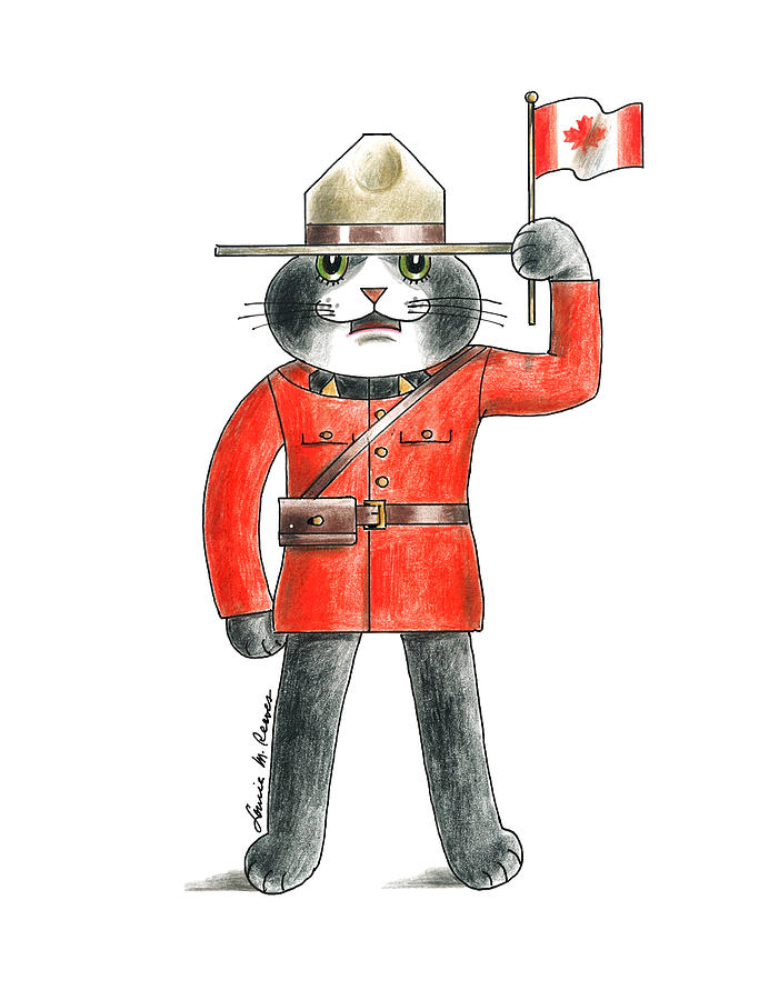 Cat Drawing - Canadian Cat by Louise McClain Reeves