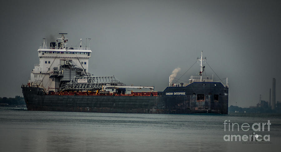 Ship Photograph - Canadian Enterprise by Ronald Grogan