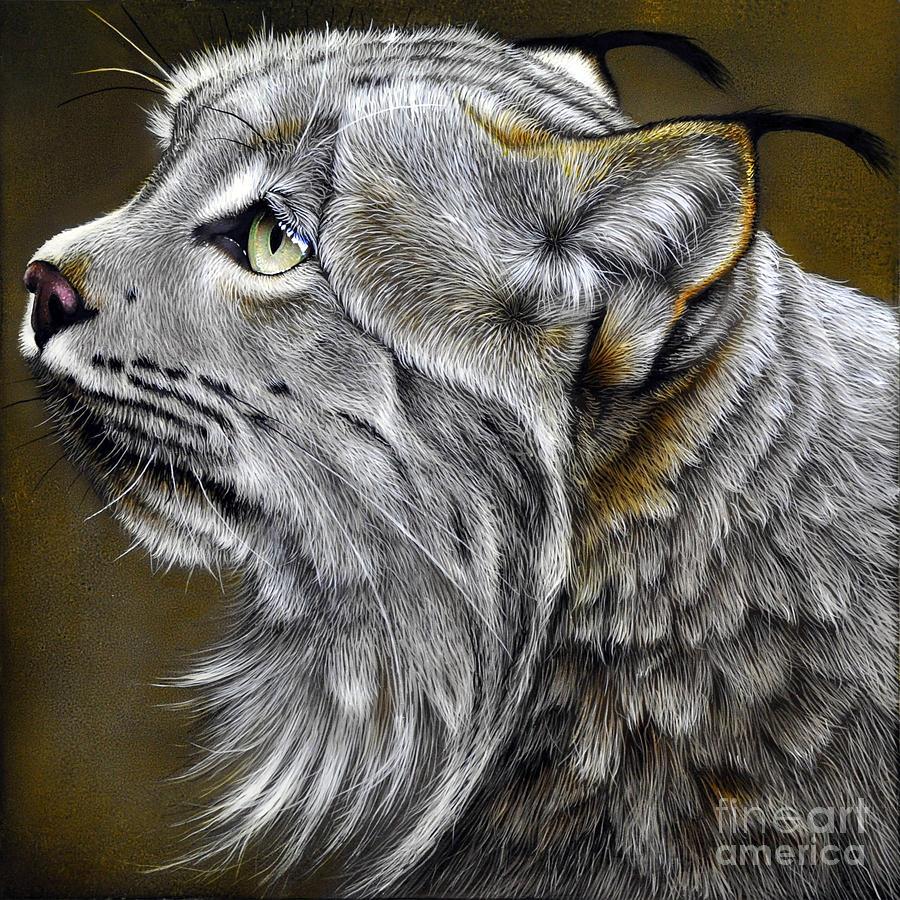 Lynx Painting - Canadian Lynx by Jurek Zamoyski