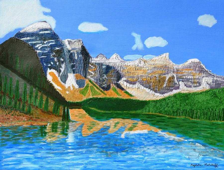 Canadian Mountains and Emerald Lake  by Magdalena Frohnsdorff