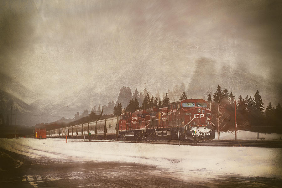 Canadian Pacific Digital Art - Canadian Pacific In Banff  by Eduardo Tavares
