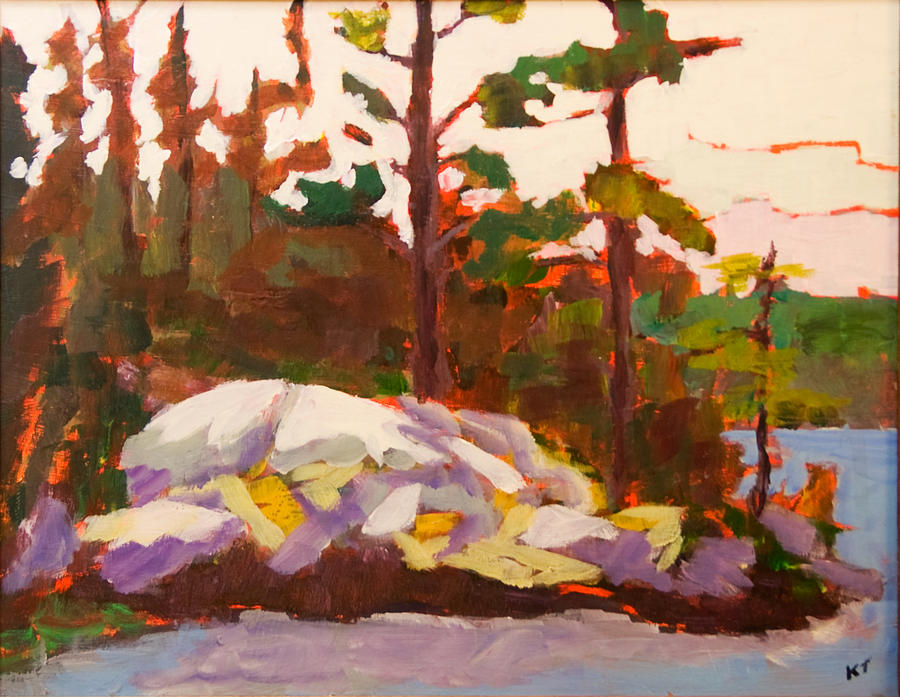Landscape Painting - Canadian Shield Haliburton by Keith Thirgood