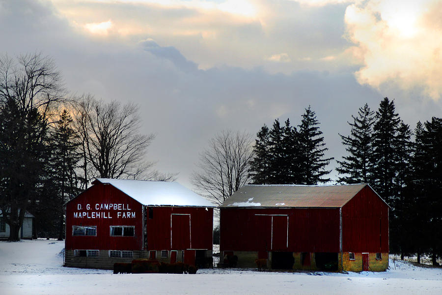Canada Photograph - Canadian Snowy Farm by Anthony Jones