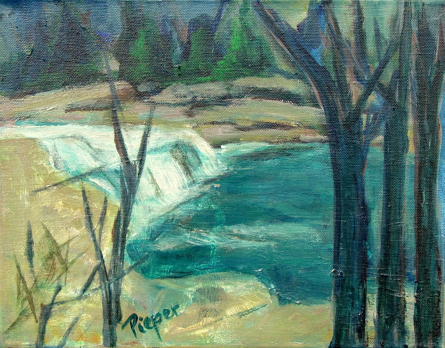 Canajoharie Painting Painting - Canajoharie Creek Near Village by Betty Pieper