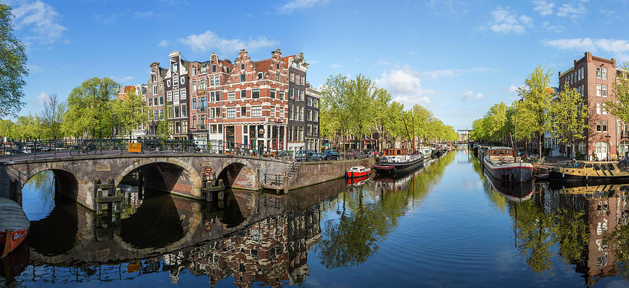 Canal, Amsterdam, Holland, Netherlands Photograph by Peter Adams