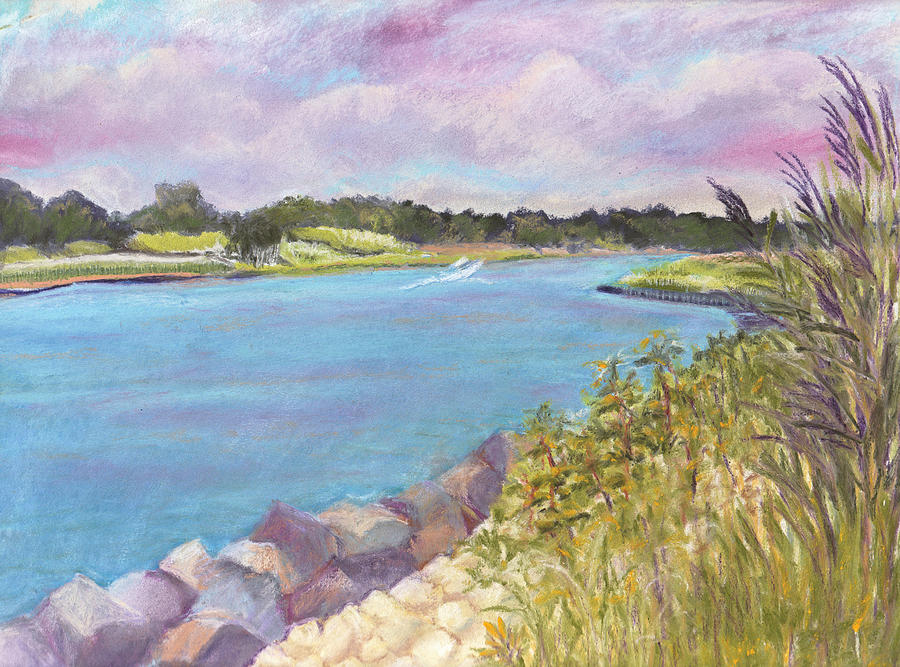 Rocks Painting - Canal Beach by Deborah Burow