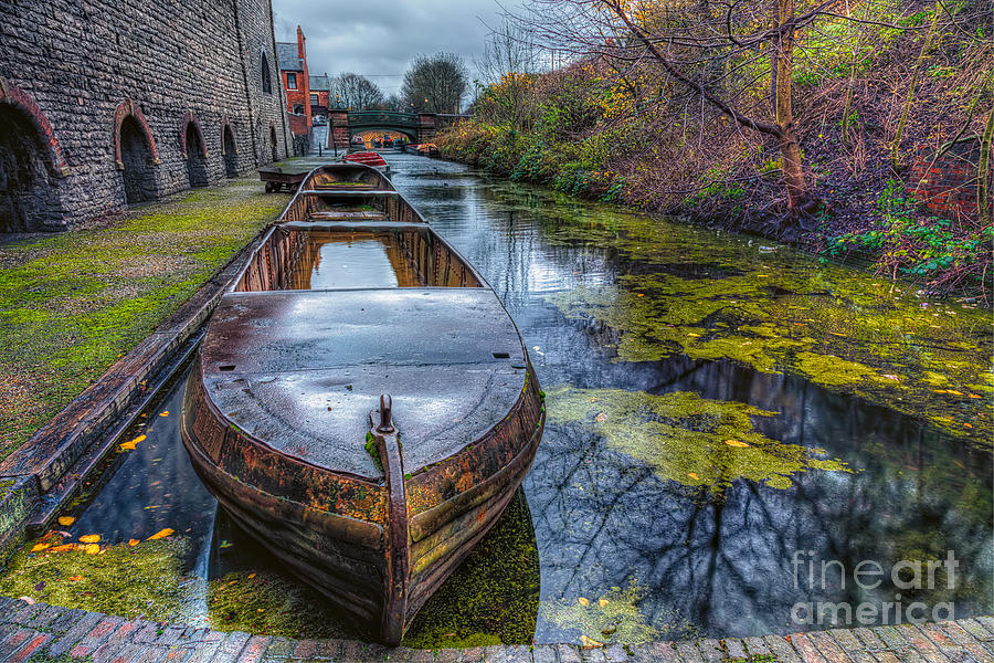 Arch Photograph - Canal Boat by Adrian Evans