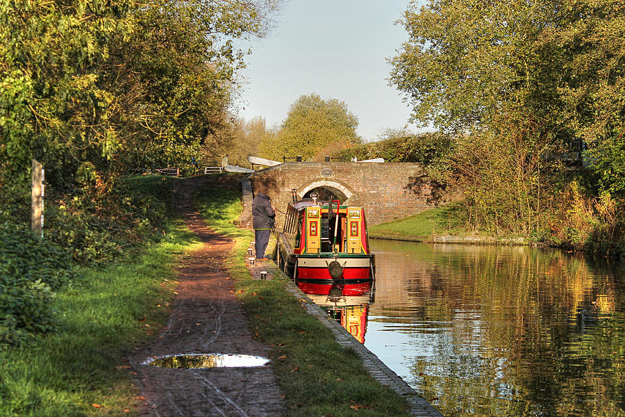 Canal Boat at Compton Lock by Sarah Broadmeadow-Thomas