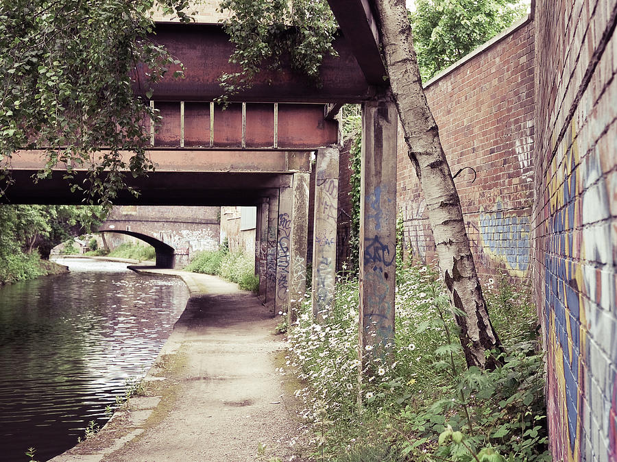Canal Footpath And Bridges Photograph by Helen Ogbourn