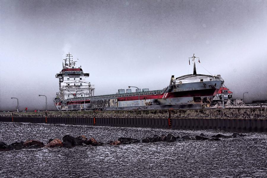 Ships Photograph - Canal Park by John Ressler