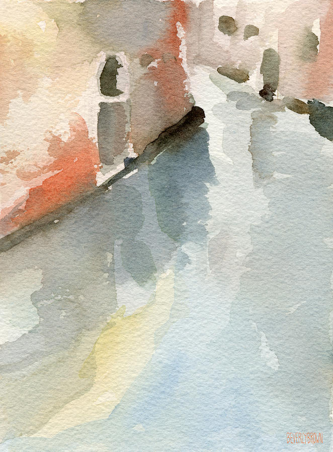 Venice Painting - Canal Reflection Watercolor Painting Of Venice Italy by Beverly Brown