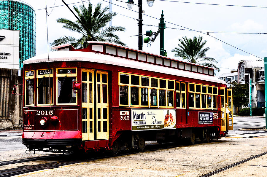 Trolley Photograph - Canal Street Car by Bill Cannon