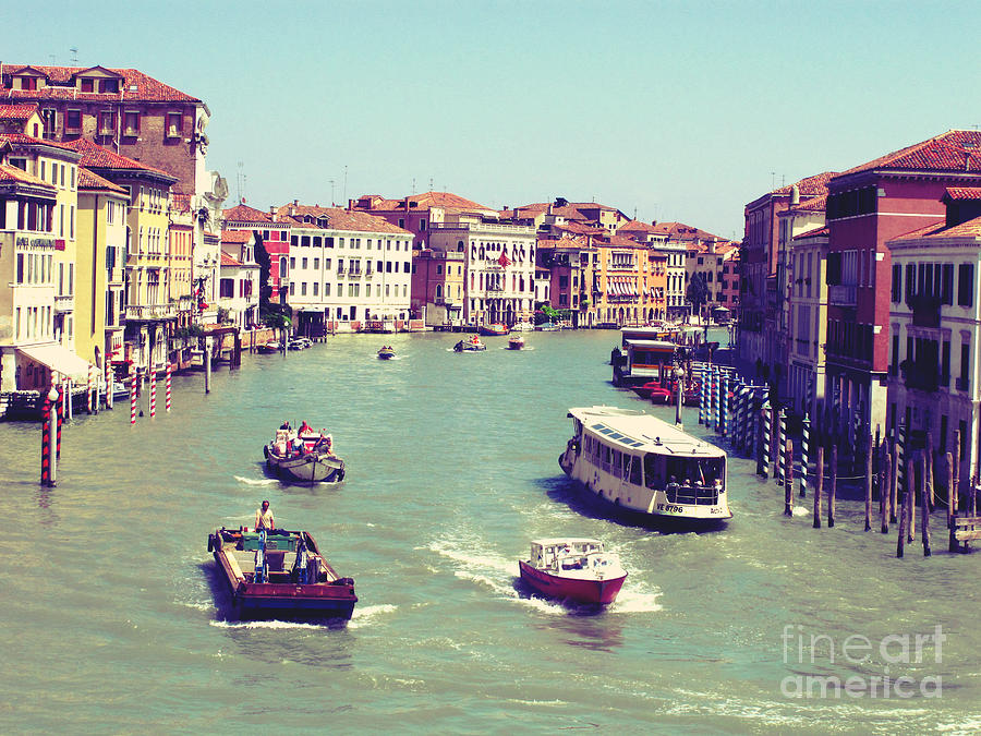 Venice Photograph - Canale Grande Venice Italy by Ernst Cerjak