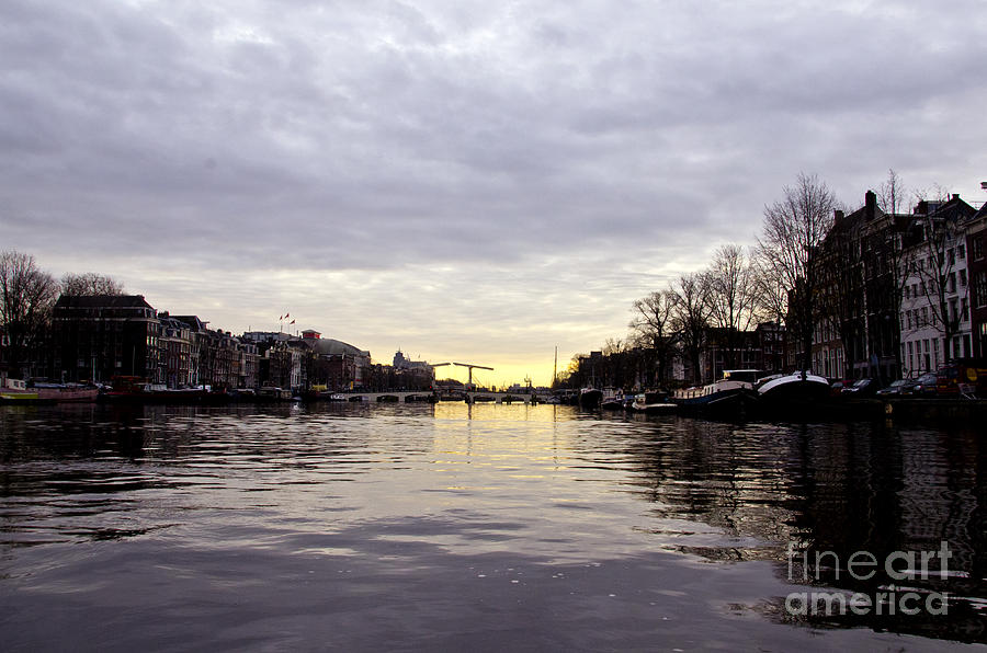 Canals Digital Art - Canals Of Amsterdam by Pravine Chester