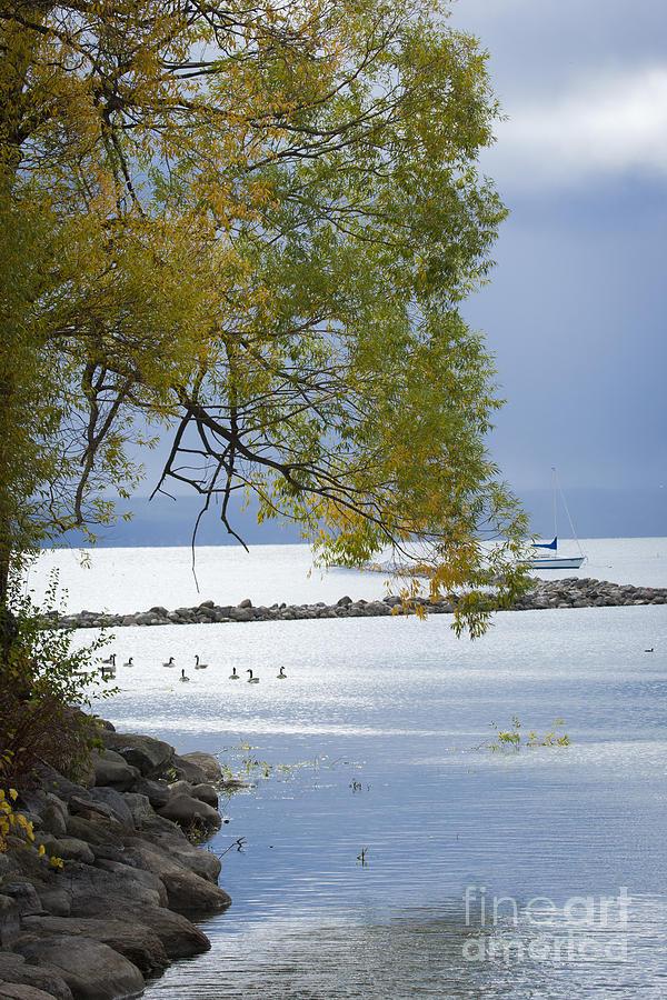 Canandaigua Photograph - Canandaigua Lake Outlet by Roger Bailey