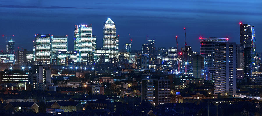 Canary Wharf And Stratford Photograph by Kenny Mccartney