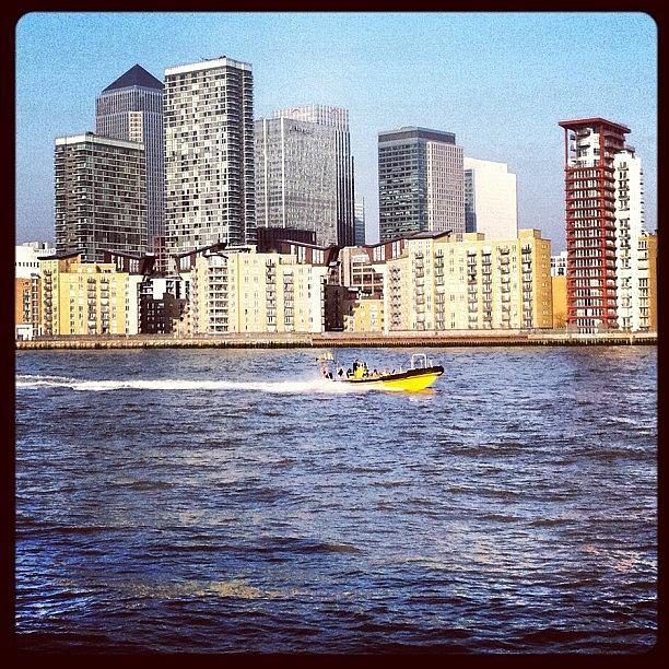 Skyline Photograph - Canary Wharf #london #skyline by Daniel Sweeney