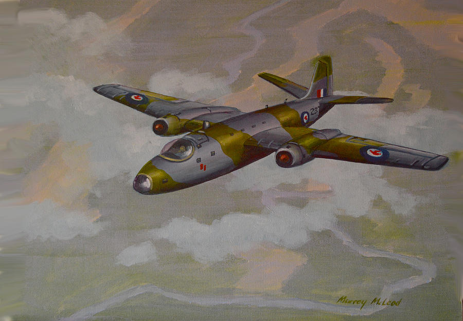 Canberra Sortie Painting by Murray McLeod