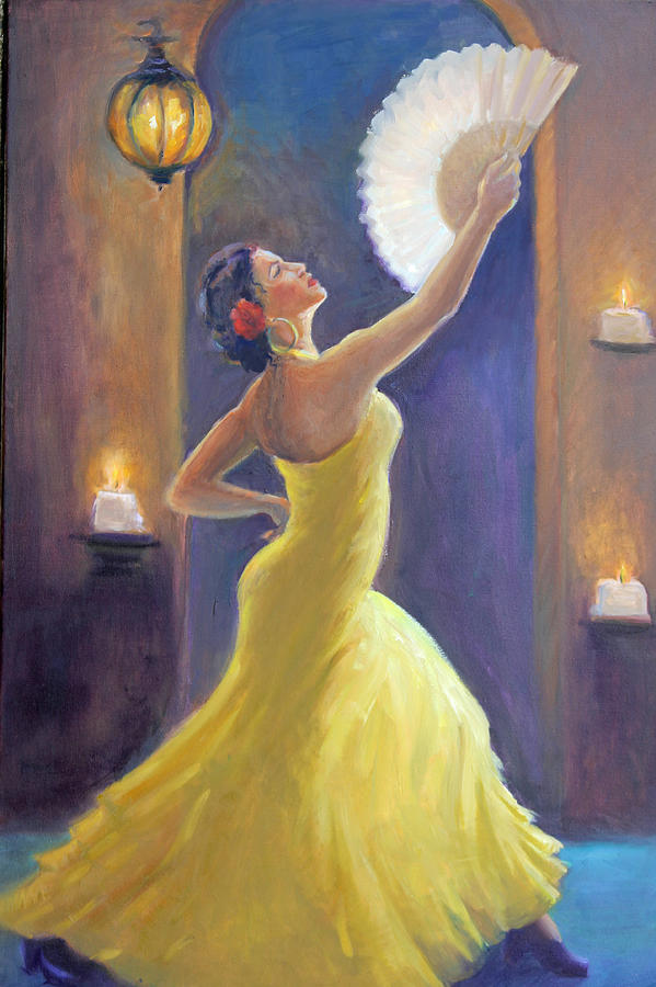 Flamenco Paintings Painting - Candelight Castinetts by Gwen Carroll