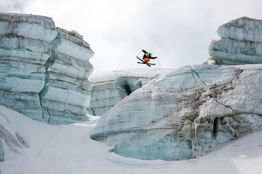 360 Photograph - Candide Thovex Out Of Nowhere Into Nowhere by Tristan Shu