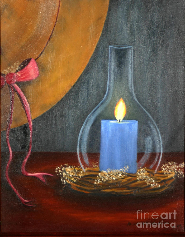 Candle glow painting by alice v s woodward for Candle painting medium
