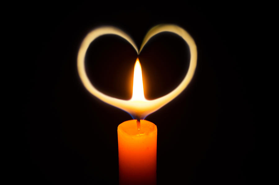 candle heart photograph by urairak hinthong. Black Bedroom Furniture Sets. Home Design Ideas