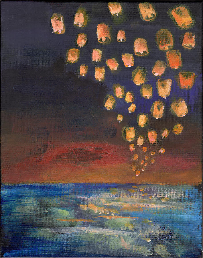 Candle lanterns painting by michelle erin dominado for Candle painting medium