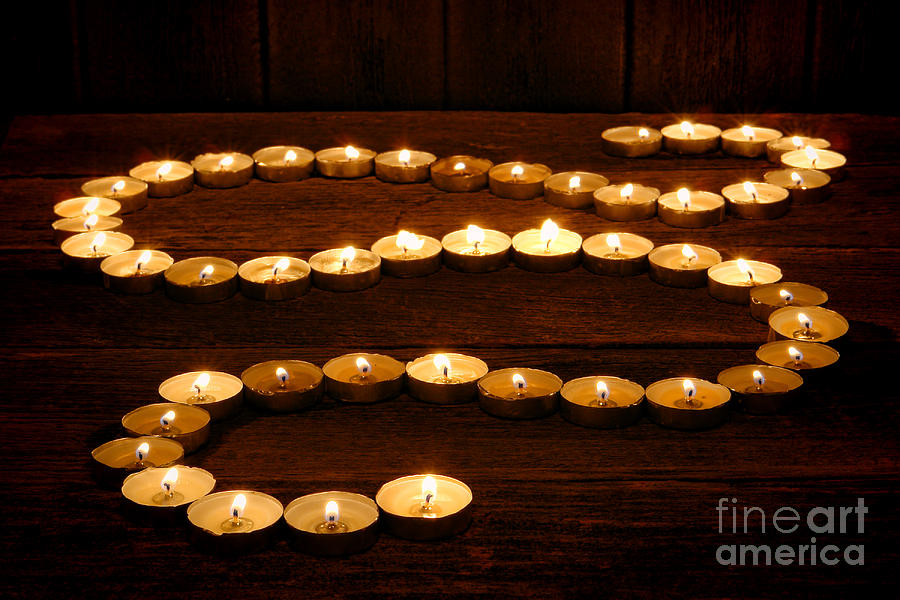 Zen Photograph - Candle Path by Olivier Le Queinec