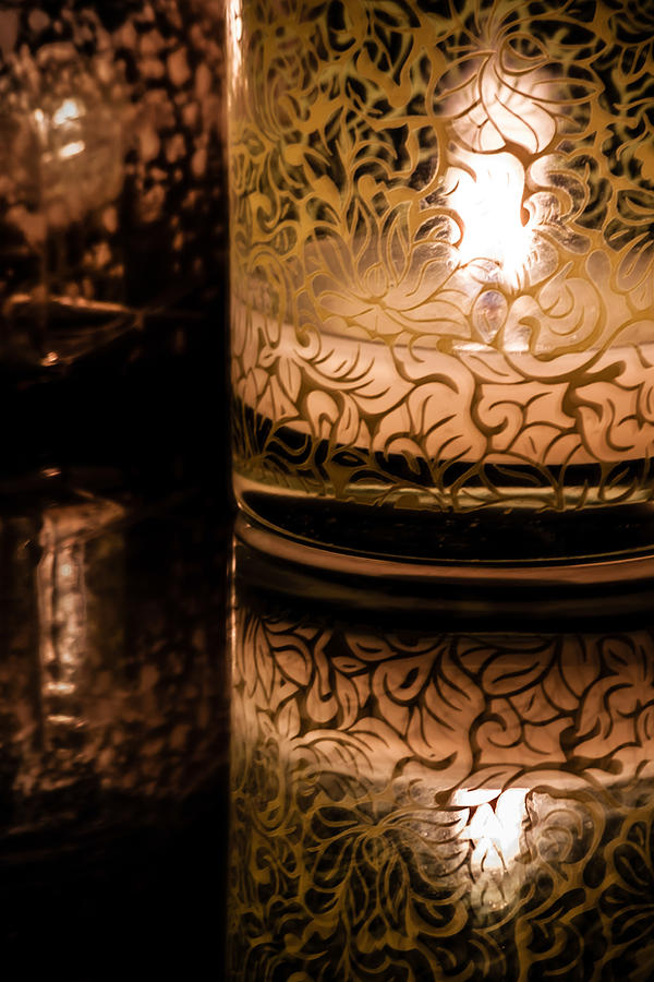 Candle Reflections Photograph