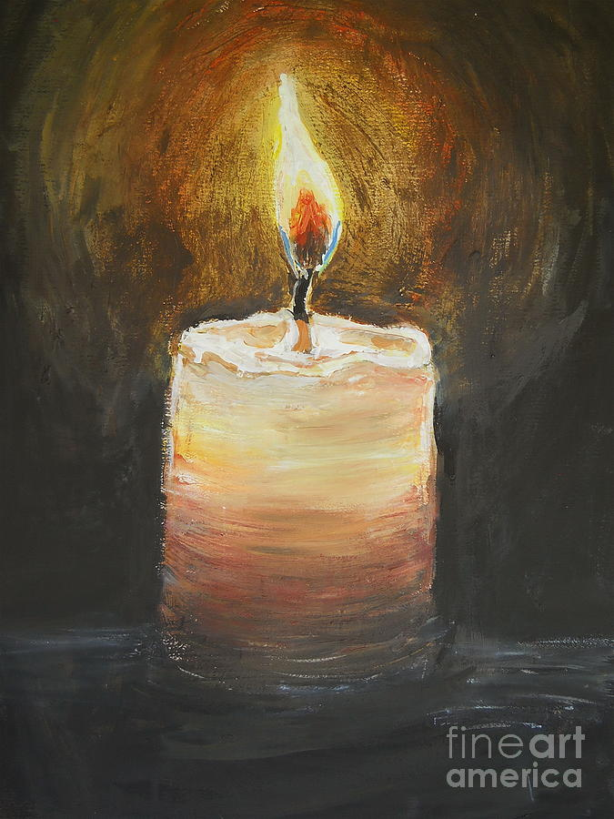 Candle Painting - Candle by Sheena Kohlmeyer