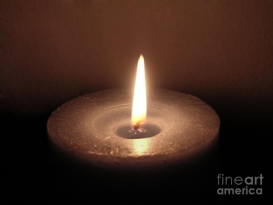 Candle Soft Colors Photograph