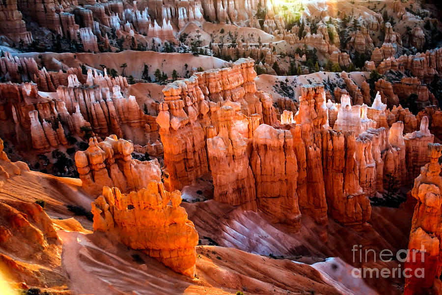 Rock Formations Photograph - Candlestick Hoodoos by Robert Bales