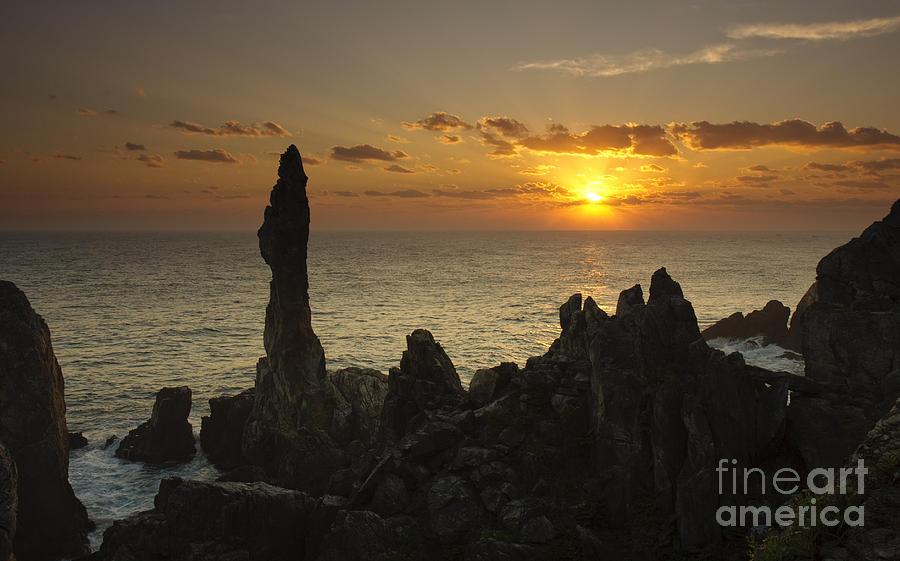 Candlestick Rock sunrise Korea by Ken Brown