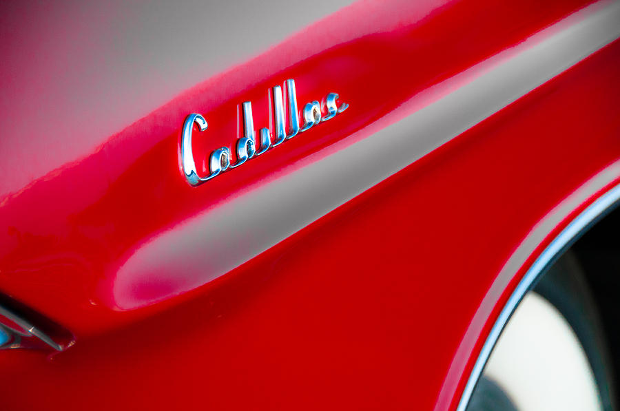Cadillac Photograph - Candy Apple Red by David Pinsent