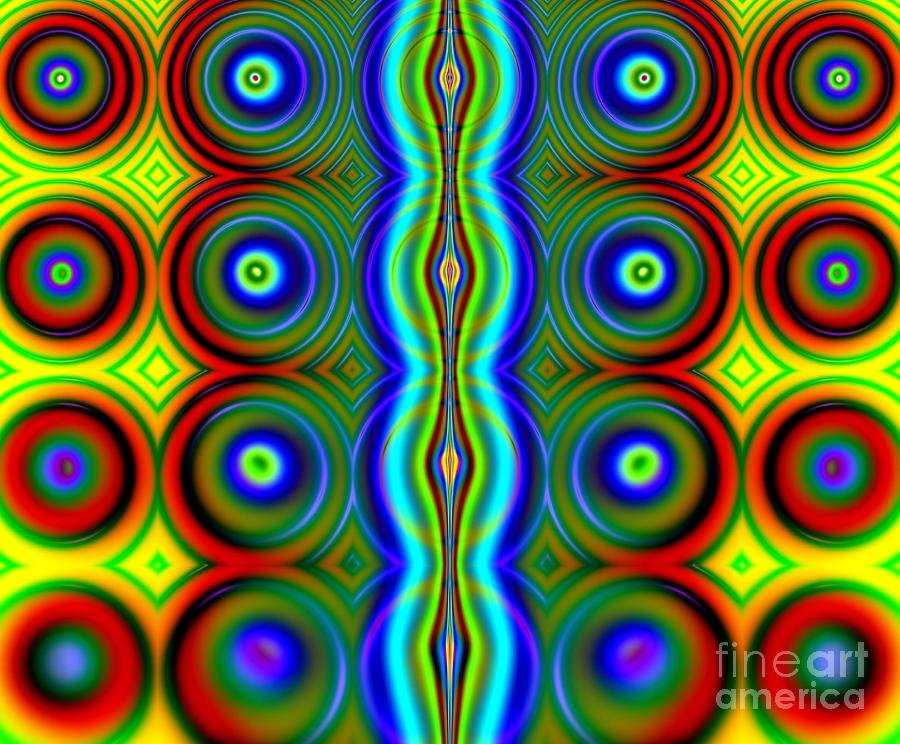 Candy Digital Art - Candy Dots Fractal by Rose Santuci-Sofranko