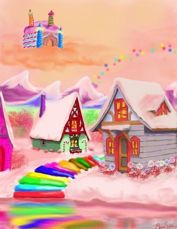 Fantasy Digital Art - Candy Land by Brad Simpson