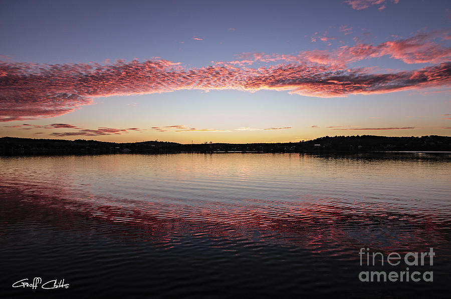 Sunrise Photograph - Candy Pink Reflections - Sunrise by Geoff Childs