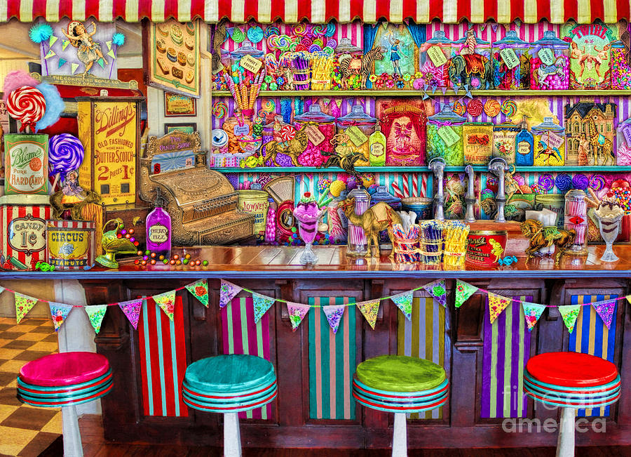 Sweets Digital Art - Candy Shop by MGL Meiklejohn Graphics Licensing
