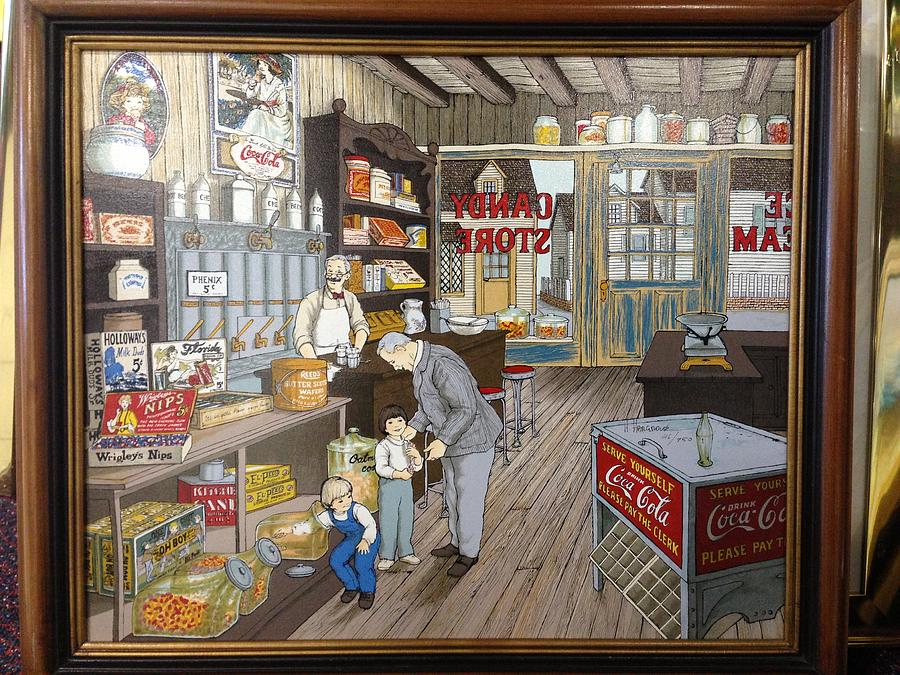Artwork Painting - Candy Shop by Hargrove