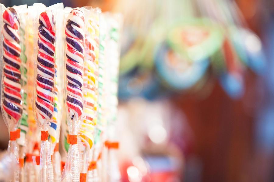 Christmas Photograph - Candy Sticks At German Christmas Market by Susan Schmitz