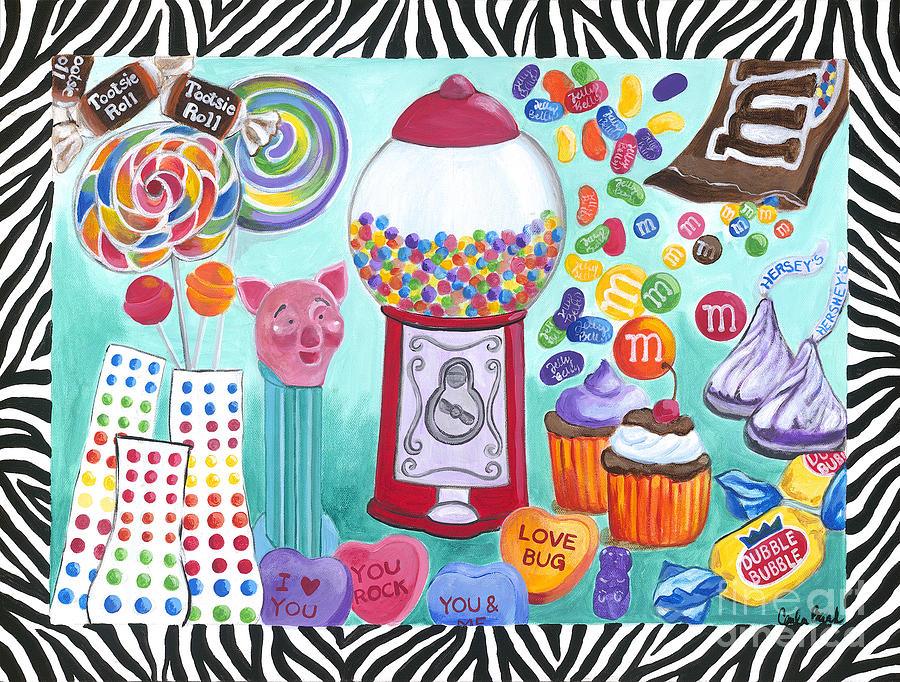 Carla Bank Painting - Candy Window by Carla Bank