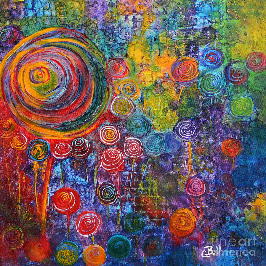 Candy Painting - Candyland by Claire Bull