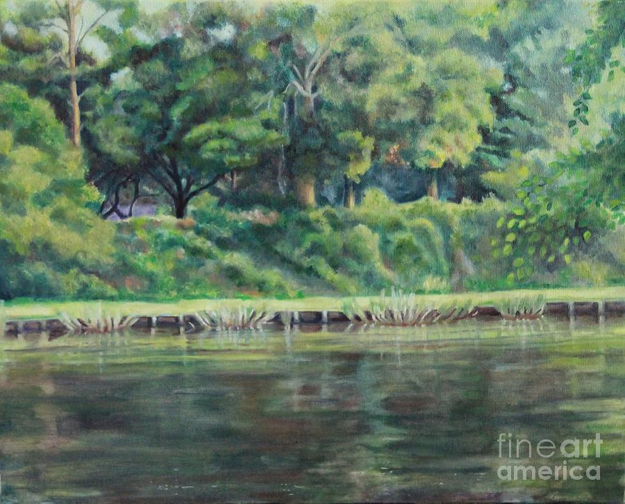 Landscape Painting - Cane River by Ellen Howell