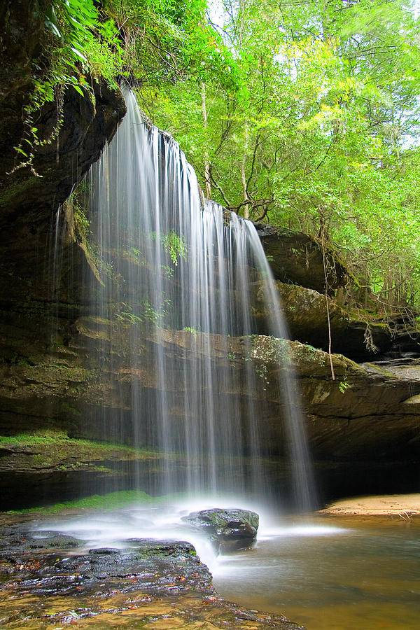 Waterfall Photograph - Caney Creek Falls by Scott Moore