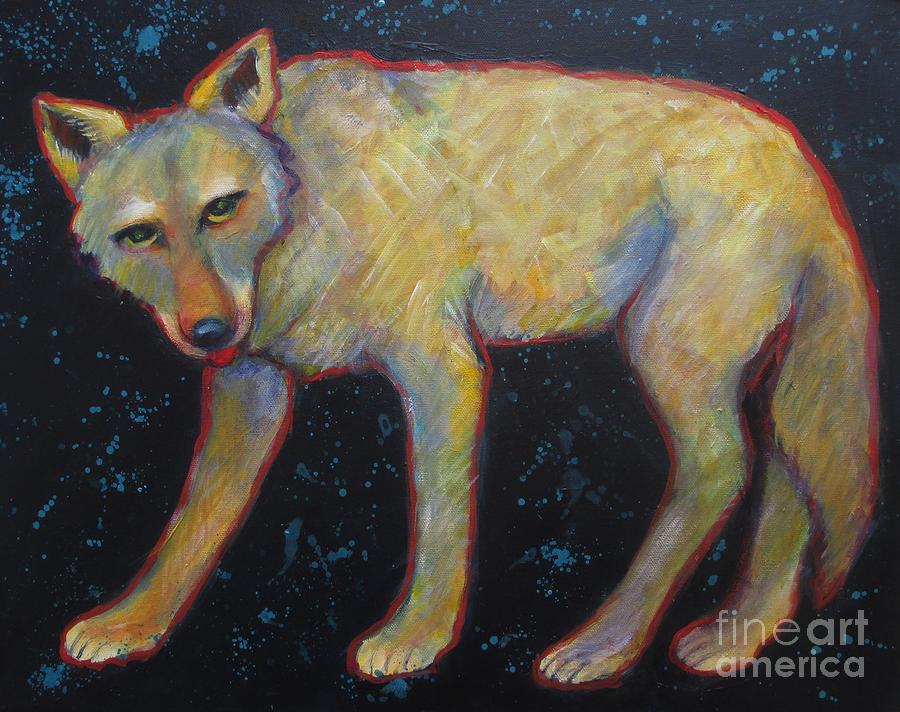 Canis Latrans Painting