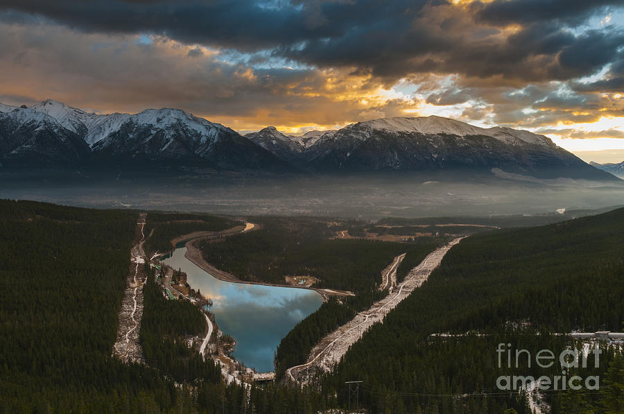 Alberta Photograph - Canmore Sunrise by Ginevre Smith