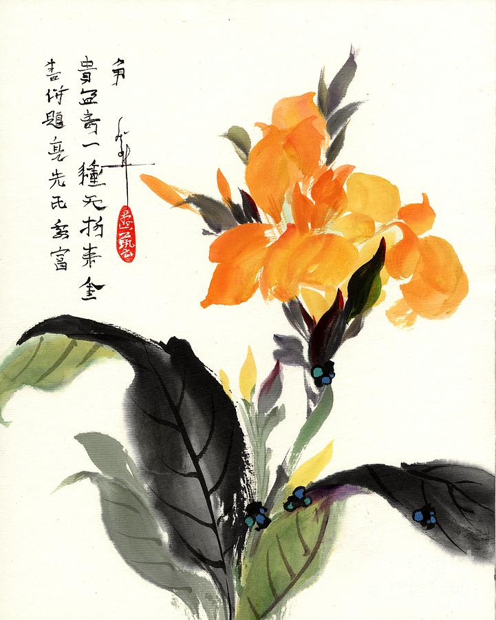 Flower Painting - Canna by Linda Smith